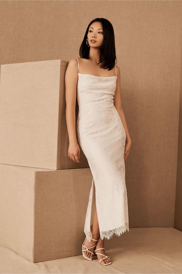 Amsale Connie Lace Slip Dress