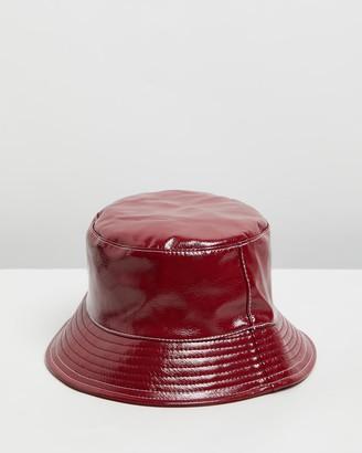 Topshop Vinyl Bucket Hat