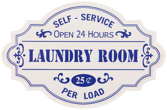 Pinnacle Farmhouse Hand Painted Laundry Room Tin Enamel Wall Sign