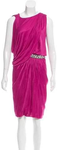 Yigal Azrouel Crystal Embellished Midi Dress