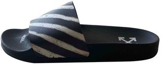 Off-White Black Rubber Sandals