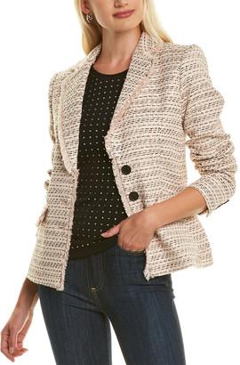 Karl Lagerfeld Paris Tweed Wool-Blend Jacket