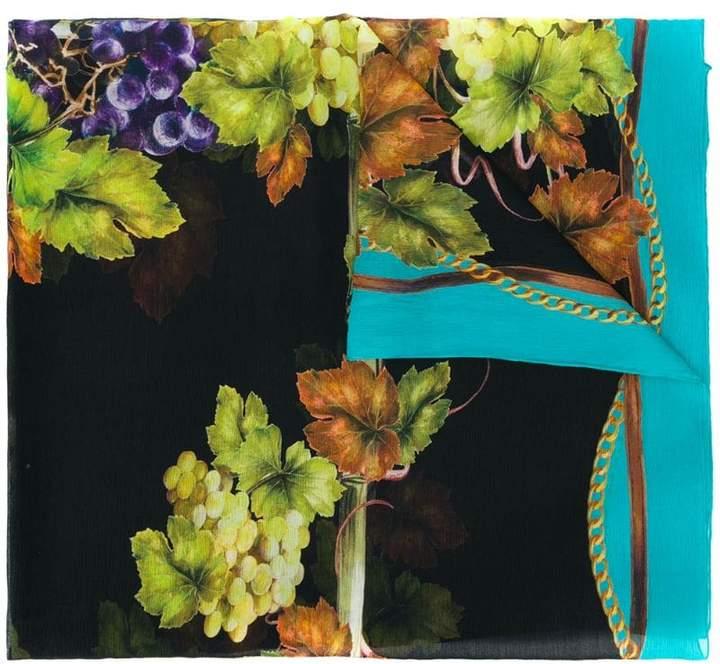 Dolce & Gabbana grapes print scarf