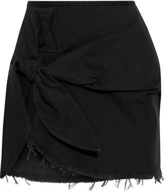 Marques Almeida Frayed Knotted Denim Mini Skirt