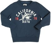 American Outfitters Shark Flocked Cotton Sweatshirt