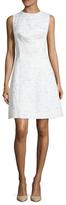 Oscar de la Renta Wool A-Line Dress