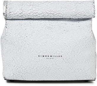 Simon Miller Lunchbag 20 Cracked Patent-leather Clutch
