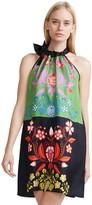 Cynthia Rowley Colorblock Floral Halter Dress