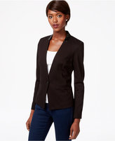 Bar III Faux-Leather-Trim Blazer, Only at Macy's