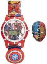 Marvel Comics Captain America & Iron Man Kids' Digital Charm Watch