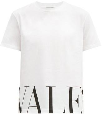 Valentino Logo-print Cotton T-shirt - White Black