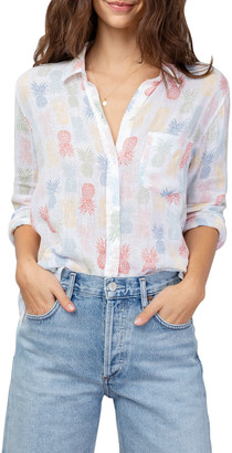 Rails Charli Rainbow Pineapple Print Button-Down Shirt