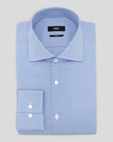HUGO BOSS Slim-Fit Houndstooth Dress Shirt, Blue