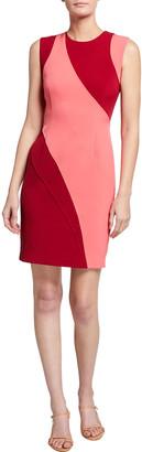 Toccin Swirl Colorblock Sheath Dress