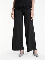 Max Studio Wide Leg Ponte Trousers, Black