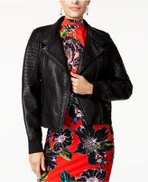 GUESS Evelyn Faux-Leather Moto Jacket