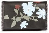 Chelsea28 Fleur Faux Leather Clutch - Black
