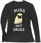 Sarah Women's Pugs Not Drugs Cute Gemma Correll Long Sleeve T-shirt XL
