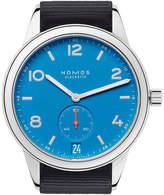 Nomos Glashutte 777 Club Automat Datum signalblau watch