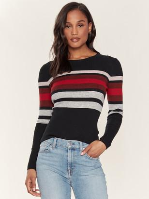 360 Cashmere Nicole Ribbed Crewneck Sweater