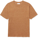 Saturdays NYC Pacho Mélange Cotton And Linen-blend T-shirt - Orange