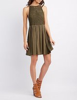 Charlotte Russe Crochet Bust Skater Dress