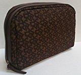 DKNY Brown/Brown Medium Logo Cosmetic Bag Case