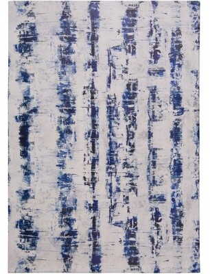 "Nicole Miller Calm Step Comfort Foam Blue/Gray Area Rug Rug Size: Rectangle 3'3"" x 5'"