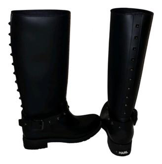 Karl Lagerfeld Paris Black Rubber Boots