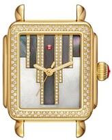 Michele Women's Deco Skyline Diamond Diamond Dial Watch Case, 33Mm