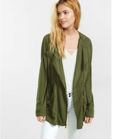 Express olive roll sleeve parka