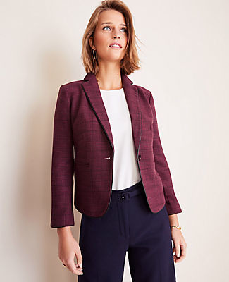 Ann Taylor The Newbury Blazer in Glen Plaid