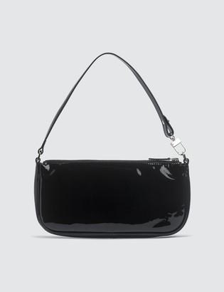 BY FAR Rachel Black Patent Leather Bag