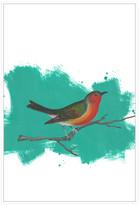 Jonathan Bass Studio Bird On A Branch, Decorative Framed Hand Embellish