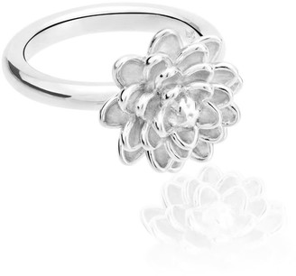 Tane Handmade Small Flower Ring In Sterling Silver