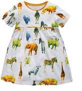 Little Maven Baby Girls Dress Summer Cotton Princess Dress 18M-6T
