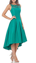 Carmen Marc Valvo Beaded Drop Waist Hi-low Dress