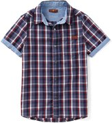 7 For All Mankind Big Boys 8-20 Plaid Button-Down Shirt