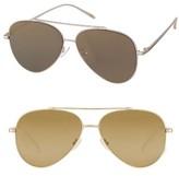 Women's Perverse Bronson 59Mm Aviator Sunglasses - Gold/ Gold Mirror