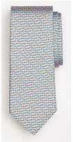 Brooks Brothers Panama Hat Print Tie