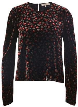 Vanessa Bruno Flowers printed velvet Marta blouse