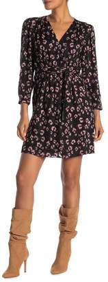Rebecca Taylor Belted Cheetah Print Dress