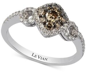 LeVian Le Vian Chocolatier Diamond Ring (5/8 ct. t.w.) in 14k White Gold