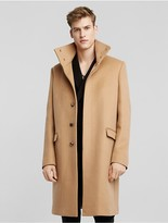 Calvin Klein Collection Doubleface Cashmere Stand Collar Overcoat
