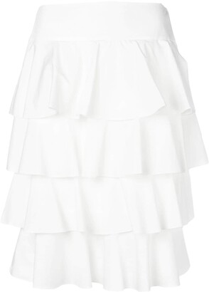 Fendi Tiered Layered Skirt