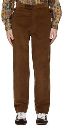 Bode Brown Corduroy Side-Tie Trousers
