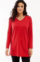 J. Jill V-Neck Knit Tunic