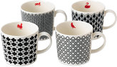Royal Doulton Foulard Star Mugs, Set of 4