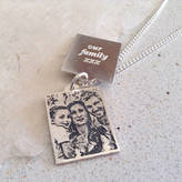 Nicola Crawford Personalised Sterling Silver Mens Photo Pendant