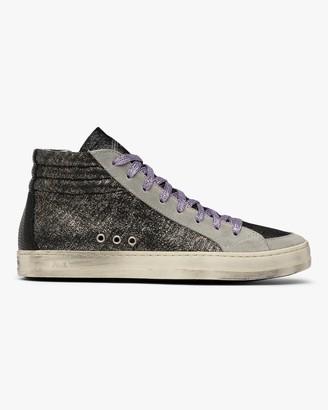 P448 Skate Black Glitter High-Top Sneaker